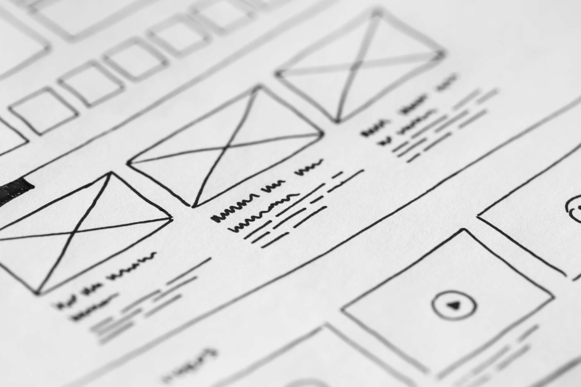 Illustration of web design wireframe